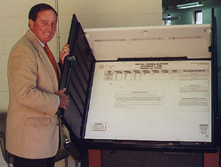 Voting Machine and Dean Haines